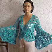 Одежда ручной работы. Ярмарка Мастеров - ручная работа Бирюзовая бабочка. Handmade.