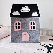 Работы для детей, ручной работы. Ярмарка Мастеров - ручная работа Дом для хранения  игрушек. Handmade.