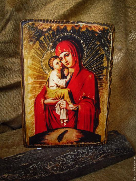 Икона на дереве Почаевская Богородица. Ручная работа. Натуральные материалы.
