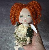 Куклы и игрушки ручной работы. Ярмарка Мастеров - ручная работа Ангелочек-рыжик. Кукла текстильная интерьерная.. Handmade.