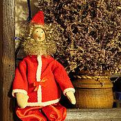 Куклы и игрушки ручной работы. Ярмарка Мастеров - ручная работа Мини Санта. Handmade.
