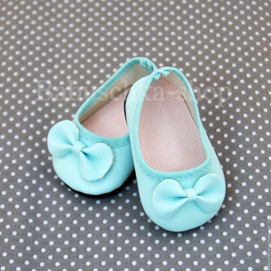 Куклы и игрушки ручной работы. Ярмарка Мастеров - ручная работа. Купить Обувь для куклы. Туфли мятные - 6,5 см. Handmade.
