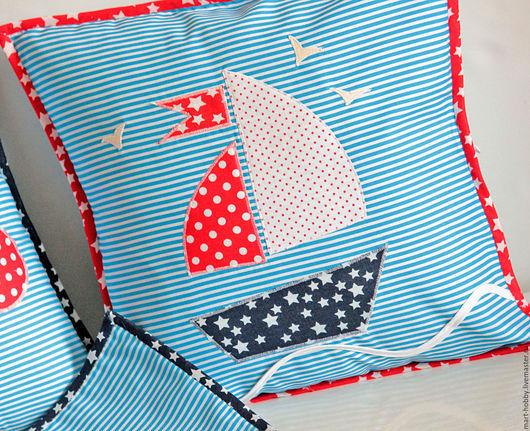 Подушки декоративные аппликация Моя Морячка Мария Исмангалиева M`Art