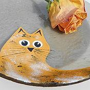 """Посуда ручной работы. Ярмарка Мастеров - ручная работа Тарелка """"Рыжий кот"""". Handmade."""
