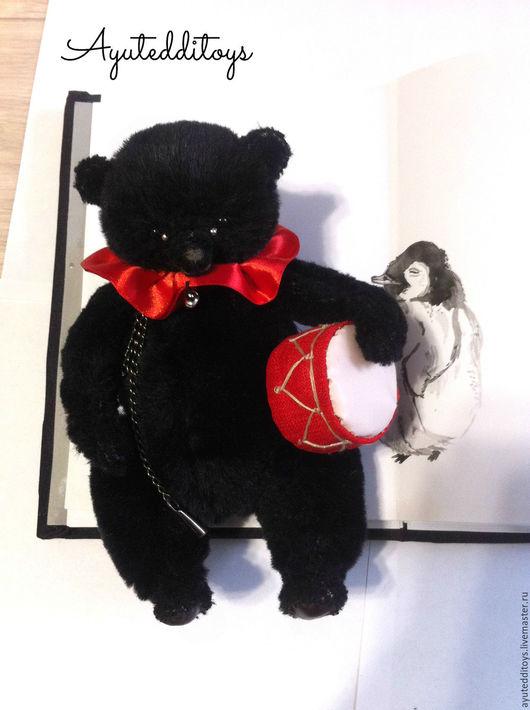 Мишки Тедди ручной работы. Ярмарка Мастеров - ручная работа. Купить Тедди мишка Шук. Handmade. Черный, подарок девушке