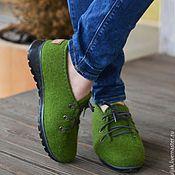 Обувь ручной работы. Ярмарка Мастеров - ручная работа Валяные полуботинки  Изумрудный город. Handmade.