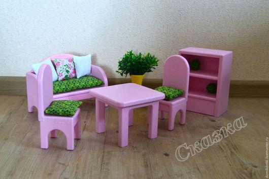 Кукольный дом ручной работы. Ярмарка Мастеров - ручная работа. Купить Мебель для кукольного домика. Handmade. Кукольная мебель, фанера