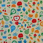 """Материалы для творчества ручной работы. Ярмарка Мастеров - ручная работа Ткань """"Весёлый урожай"""". Handmade."""
