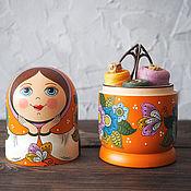 Русский стиль ручной работы. Ярмарка Мастеров - ручная работа Матрешка-шкатулка. Handmade.