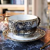 Посуда handmade. Livemaster - original item Tea porcelain pair