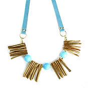 Украшения handmade. Livemaster - original item Sea necklace with coral, blue necklace