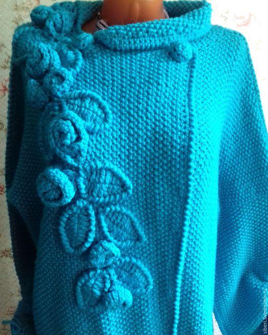 """Верхняя одежда ручной работы. Ярмарка Мастеров - ручная работа. Купить Пальто """"Бирюзовая осень"""". Handmade. Бирюзовый, пальто демисезонное"""