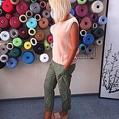 Одежда ручной работы. Ярмарка Мастеров - ручная работа Топ вязаный №140 из 100% итальянского хлопка. Handmade.
