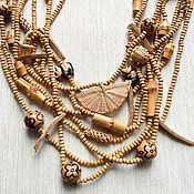 "Украшения handmade. Livemaster - original item Wooden necklace ""Panda, the bamboo bear"". Handmade."