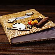 """Канцелярские товары ручной работы. Ярмарка Мастеров - ручная работа Блокнот """"Осень в городе"""". Handmade."""