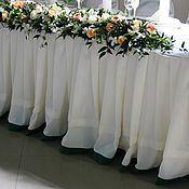 Свадебный салон ручной работы. Ярмарка Мастеров - ручная работа Юбка на свадебный стол 6,00х0,75. Handmade.