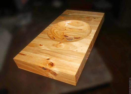 Ванная комната ручной работы. Ярмарка Мастеров - ручная работа. Купить раковина деревянная. Handmade. Золотой, креатив, масло водоотталкивающее