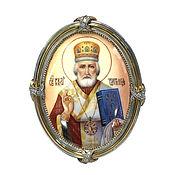 Картины и панно handmade. Livemaster - original item The icon of St Nicholas the Wonderworker. Handmade.