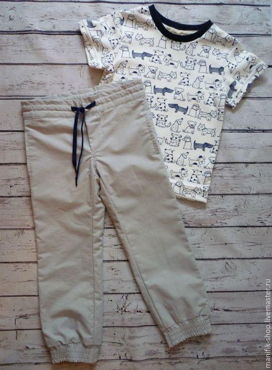 Одежда унисекс ручной работы. Ярмарка Мастеров - ручная работа. Купить Комплект штаны с футболкой. Handmade. Комплект для девочки