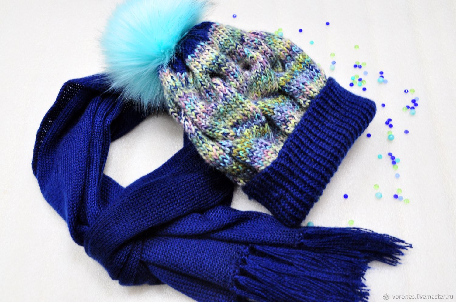 A set of soft yarn color dark blue, Accessories kits, Moscow, Фото №1