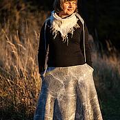 """Одежда ручной работы. Ярмарка Мастеров - ручная работа Юбка """"Ожидание"""" (войлок, расклешенная). Handmade."""