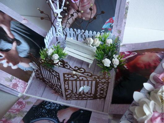 """Открытки на день рождения ручной работы. Ярмарка Мастеров - ручная работа. Купить Большая открытка-коробочка на день рождение """"Райский сад"""". Handmade."""