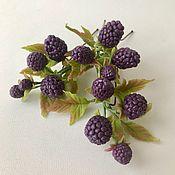 Украшения handmade. Livemaster - original item Studs with blackberries. Handmade.