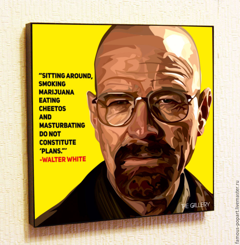 Picture poster breaking bad Walter white, Fine art photographs, Moscow,  Фото №1
