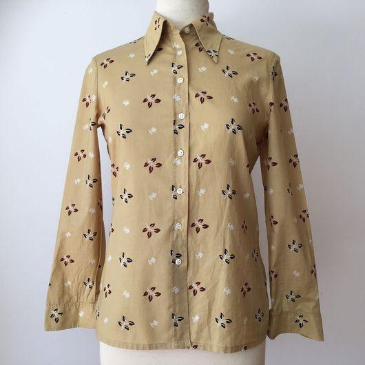 Одежда. Ярмарка Мастеров - ручная работа. Купить Рубашка 1970'х годов CACHAREL. Handmade. Cacharel, 1970-е, в цветочек
