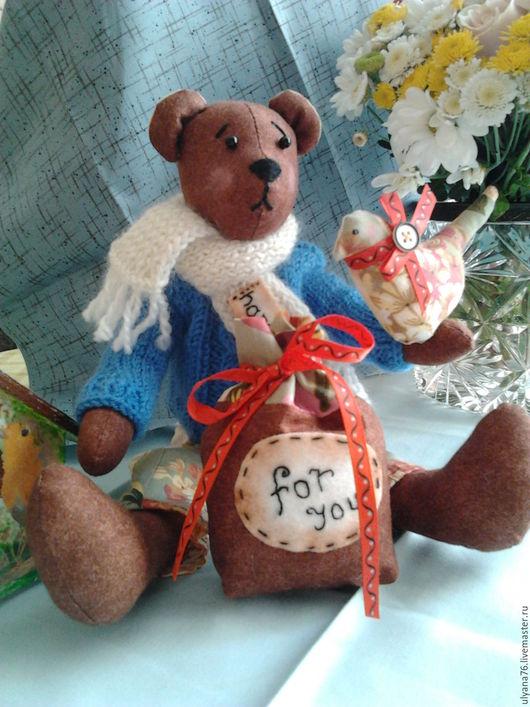 Куклы Тильды ручной работы. Ярмарка Мастеров - ручная работа. Купить Медвежонок Тильда. Handmade. Коричневый, печворк, медвежонок