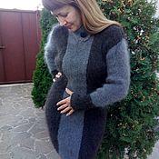 handmade. Livemaster - original item Dress knit fur Irene. Handmade.