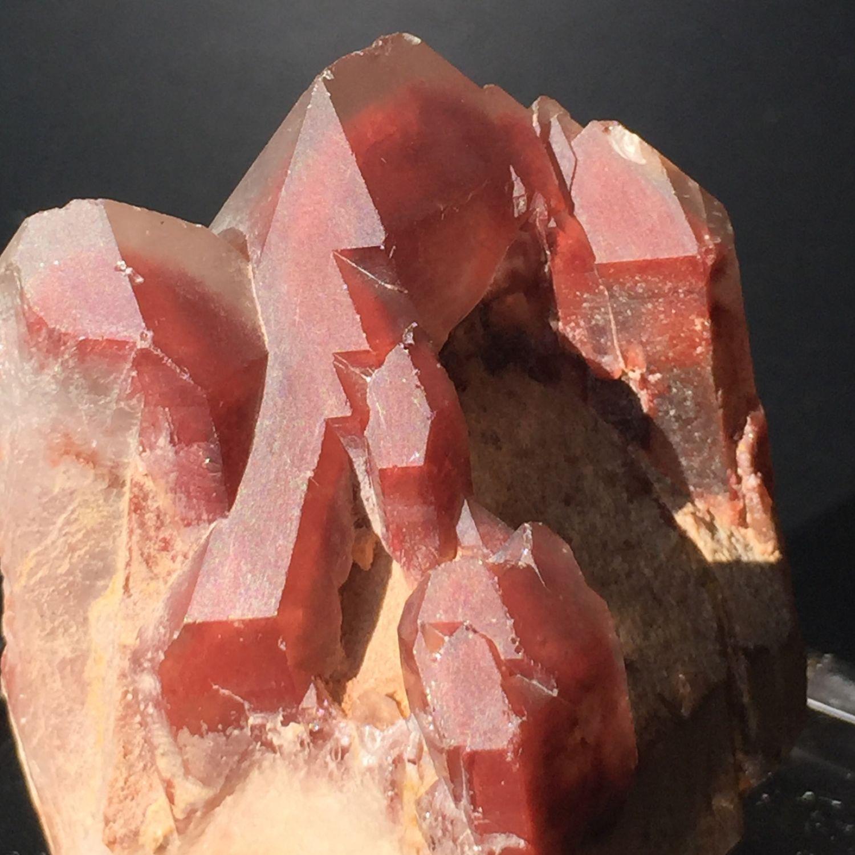 Red Phantom quartz crystal cluster, Zambia, Crystal, Krasnodar,  Фото №1