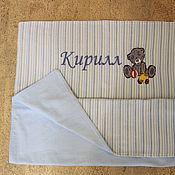 Для дома и интерьера ручной работы. Ярмарка Мастеров - ручная работа Велюровое детское одеялко с вышивкой. Handmade.