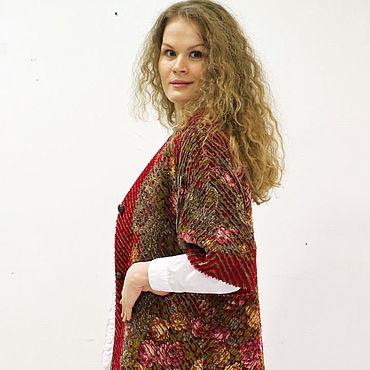 Одежда ручной работы. Ярмарка Мастеров - ручная работа Жакет синель Удлиненный. Handmade.