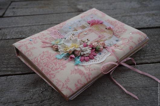 Блокноты ручной работы. Ярмарка Мастеров - ручная работа. Купить Блокнот ручной работы. Handmade. Бледно-розовый, шебби