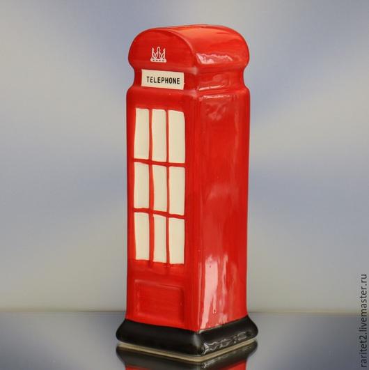 Винтажные предметы интерьера. Ярмарка Мастеров - ручная работа. Купить Телефонная будка телефон копилка Англия 1. Handmade. Разноцветный