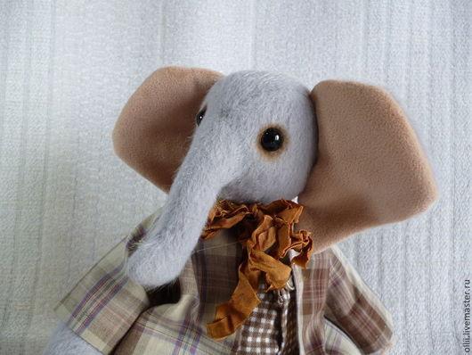 Мишки Тедди ручной работы. Ярмарка Мастеров - ручная работа. Купить Слоник Мотя. Handmade. Серый, подарок девочке, тедди