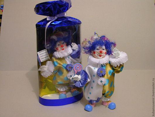 """Детская ручной работы. Ярмарка Мастеров - ручная работа. Купить """"Клоун"""". Handmade. Белый, Керамика, оберег, конфета, трикотаж, поролон"""