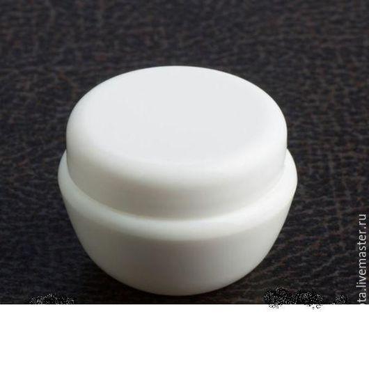 Упаковка ручной работы. Ярмарка Мастеров - ручная работа. Купить Баночка белая 10 гр.. Handmade. Белый, баночка для крема