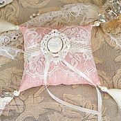 """Свадебный салон ручной работы. Ярмарка Мастеров - ручная работа Подушечка для колец """"Прекрасная леди"""". Handmade."""