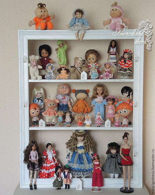 Мебель ручной работы. Ярмарка Мастеров - ручная работа. Купить Полка интерьерная Нежные розы в стиле шебби для кукол. Handmade.
