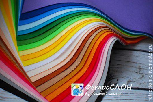 Шитье ручной работы. Ярмарка Мастеров - ручная работа. Купить Набор мягкого корейского фетра 24 цвета. Handmade.