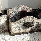 """Для дома и интерьера ручной работы. Ярмарка Мастеров - ручная работа Набор для рабочего стола """"Вокруг света 3"""". Handmade."""