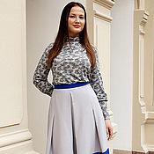 Двухцветная юбка фото