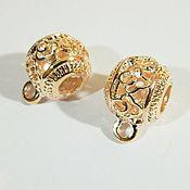 Beads1 handmade. Livemaster - original item Bail holder pendants,Rose gold plated, 19 x 5 x 3 mm. Handmade.