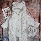Работы для детей, handmade. Livemaster - original item Knitted Romper Bear. Romper baby.. Handmade.