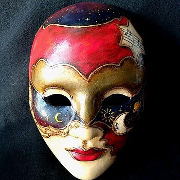 """Для дома и интерьера ручной работы. Ярмарка Мастеров - ручная работа Венецианская маска """"Музыка в  ночи"""". Handmade."""