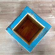 Для дома и интерьера ручной работы. Ярмарка Мастеров - ручная работа Ящик/ коробка деревянная голубая. Handmade.