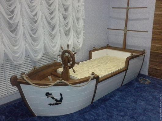 Детская ручной работы. Ярмарка Мастеров - ручная работа. Купить Кровать-Корабль. Handmade. Корабль, сундук, кровать, бук