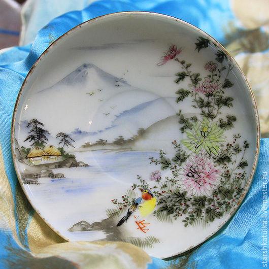 Винтажная посуда. Ярмарка Мастеров - ручная работа. Купить Тарелочка с росписью. Handmade. Комбинированный, фарфоровая тарелка, роспись